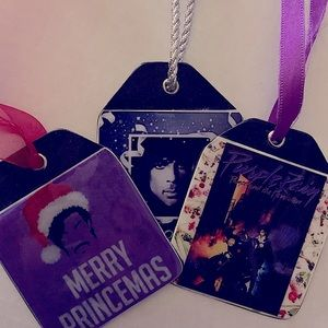 🔥PRINCE vinyl record Christmas ornament set🔥